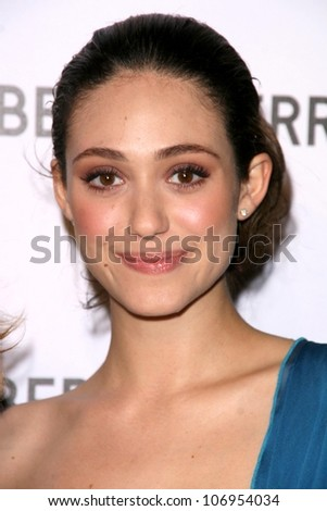 Emmy Rossum  at the Opening of the Alberta Ferretti Flagship Store on Melrose hosted by Vogue. Alberta Ferretti, Los Angeles, CA. 11-12-08 - stock photo