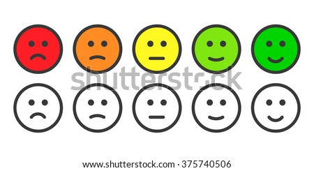 Emoji icons face icon emoticons rate stock illustration 375740506 shutterstock - Smiley noir et blanc ...