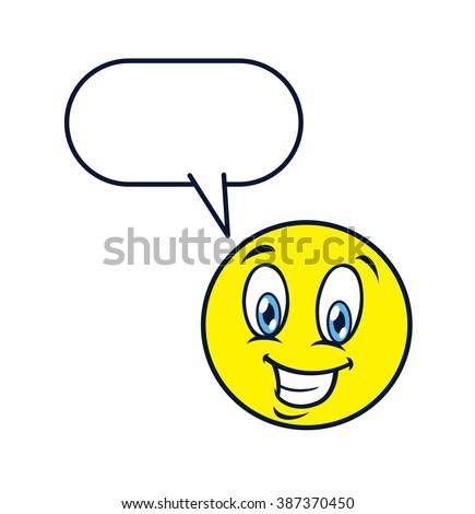 emoticon happy expression - stock photo