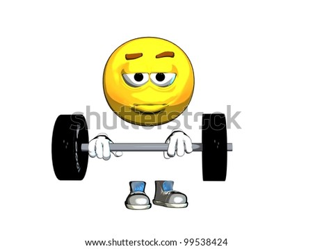 emoticon strong - stock photo