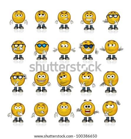 emoticons - stock photo