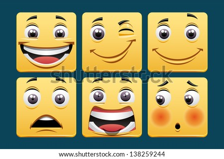 Emoticons - stock photo