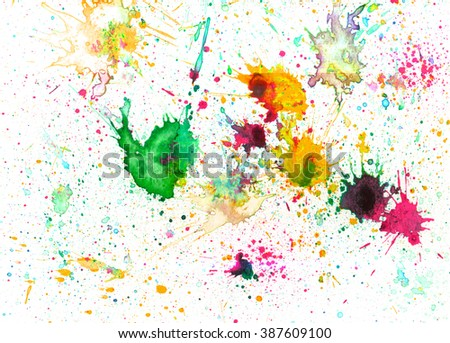 Emotional art. Grunge watercolor and ink paint. Abstract design. Modern hipster backtop. Atmosphere web site background. Futuristic art. - stock photo