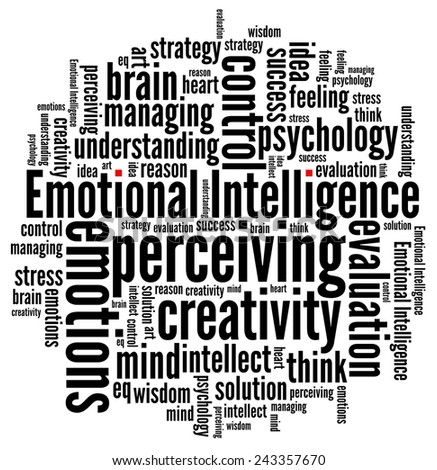 Emotional Intelligence in word collage - stock photo