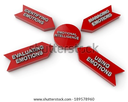 emotional intelligence leads to success - stock photo