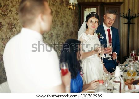 Emotional Newlywed Bride Groom Tearing During Stock Photo Edit Now