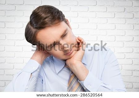 Emotional Stress, Depression, Men. - stock photo
