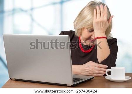Emotional Stress. Times of the economic crisis. - stock photo