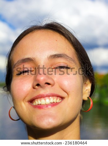 Emotions Closeup Wellbeing  - stock photo