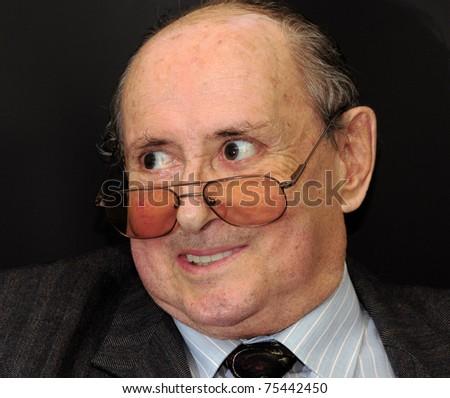 Emotions elderly men - stock photo