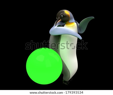 Emperor penguins , cartoon penguin , 3d render penguin isolated on white background