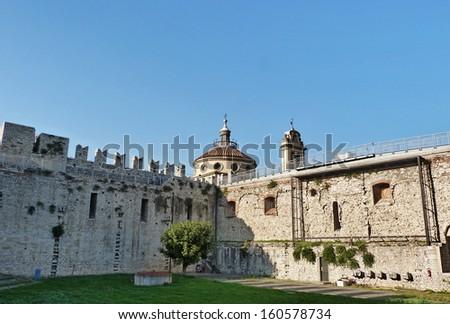 Emperors castle, Prato, Tuscany, Italy - stock photo
