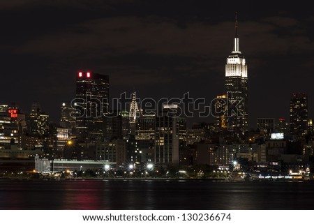 Empire State Building and Chrysler Building from New Jersey
