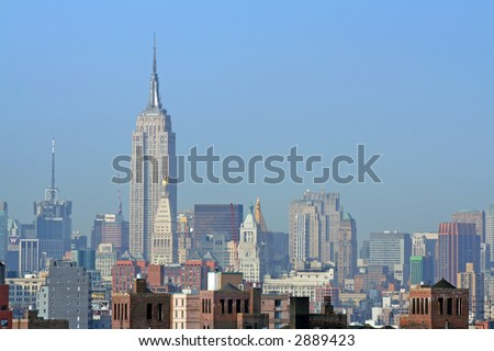Empire State Building and Manhattan