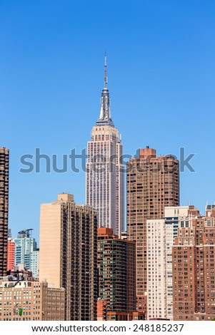 Empire State Building in Manhattan New York City USA