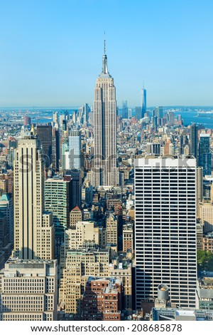 Empire state building of New York city - stock photo