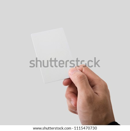 Employee catch blank business card mockup stock photo safe to use employee catch blank business card for mockup template logo branding background reheart Gallery
