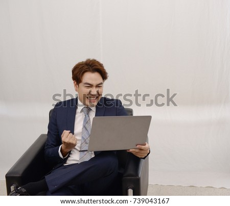 Employee is thinking of new marketing ideas for new companies.