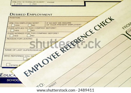 Employee Reference Check Form