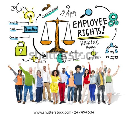 Employee Rights Employment Equality People Celebration Success Concept - stock photo