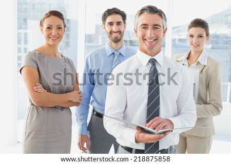 Employee's having a business meeting in a conference room - stock photo