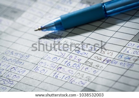 employees time recording paper sheet sign stock photo royalty free
