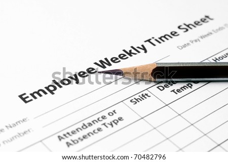 Employee weekly time sheet