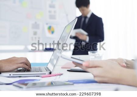 Employees meeting - stock photo