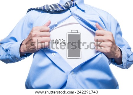 Employees showing a full energy in his suit  - stock photo