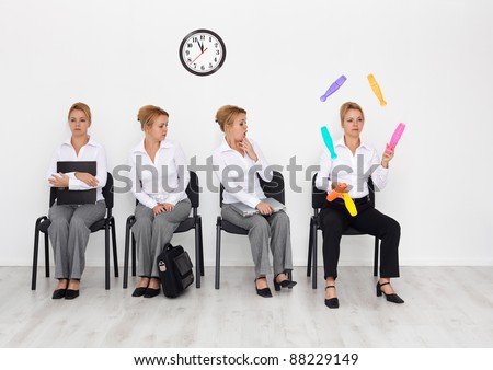 Employees with special skills wanted concept - the juggler - stock photo