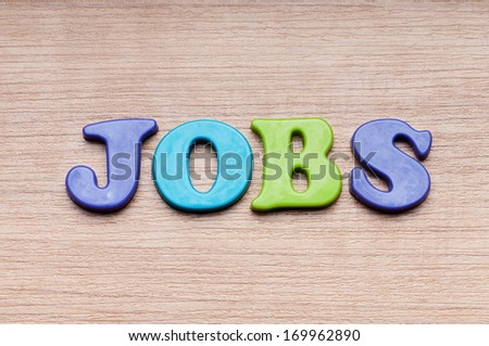 Employment concept with letters on background - stock photo