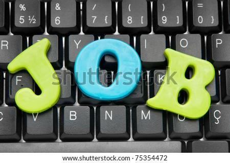 Employment concept with words on keyboard - stock photo