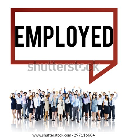 Employment Employed Career Job Hiring Concept - stock photo