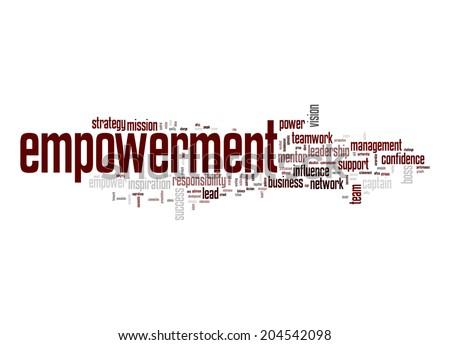 Empowerment word cloud - stock photo