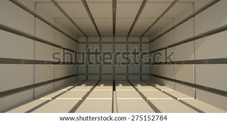 Empty abstract space, 3 d render - stock photo
