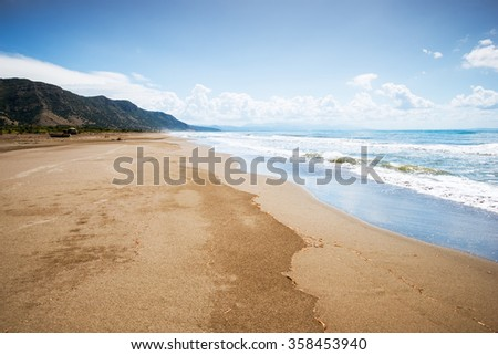 empty Adriatic coast in summer day - stock photo
