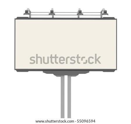 Empty advertisement hoarding - stock photo
