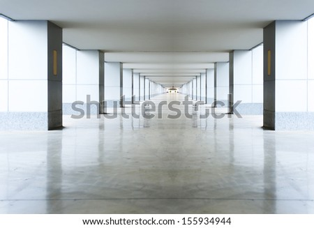Empty airport channel - stock photo