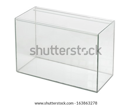 Empty aquarium isolated - stock photo