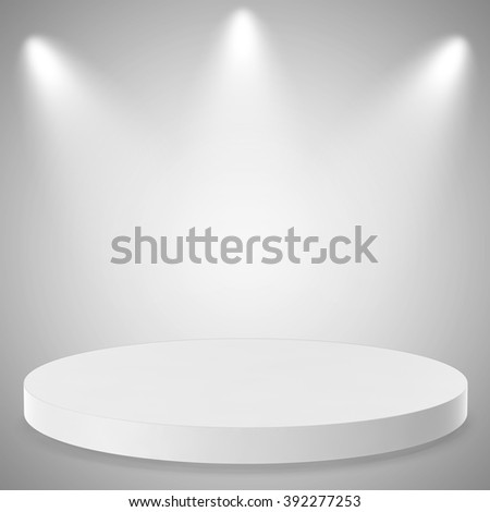 Empty Background with Spotlight Effects.