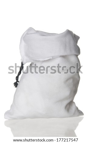 Empty bag on white background
