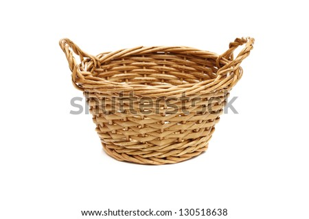 Empty basket on a white background. - stock photo