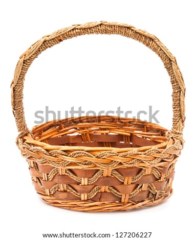 empty basket on white background
