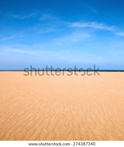 Empty beach scene as nature background - stock photo