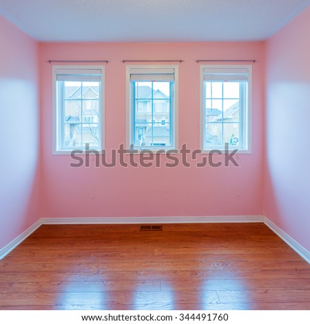 Empty  Bedroom after renovation in a New House - stock photo