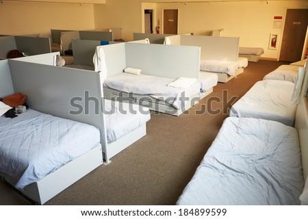Empty Beds Homeless Shelter Stock Photo 184899599 Shutterstock