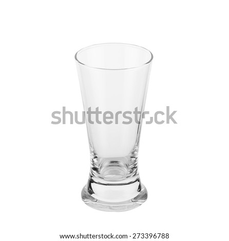 Empty beer glass. Isolated on white background.