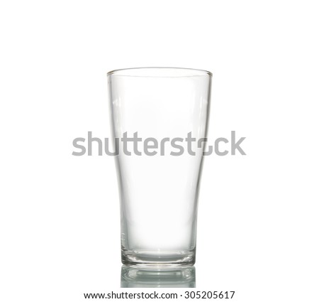 empty beer glass isolated on white background, clipping path