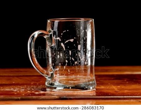 Empty beer mug - stock photo