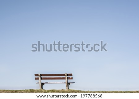 empty bench  - stock photo